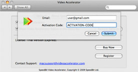 SPEEDbit Video Accelerator for Mac activation screen