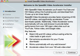 SPEEDbit Video Accelerator for Mac installation wizard