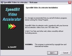 SPEEDbit Video Accelerator installation wizard